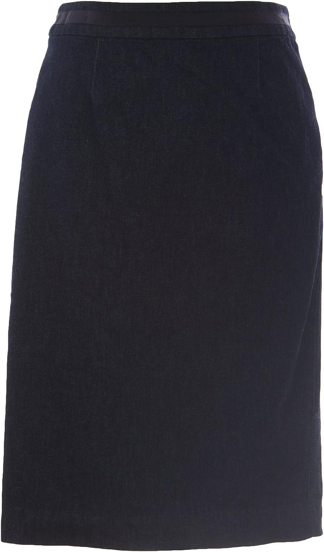 BODEN Women's Denim Modern Pencil Skirt Dark Indigo