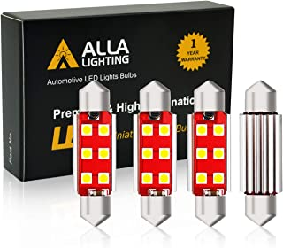 """Alla Lighting CANBUS 578 LED Bulbs White 800 Lm Extremely Super Bright 6000K Xenon LED 578 Bulb 41mm(1.72"""") 3030 SMD 569 2..."""