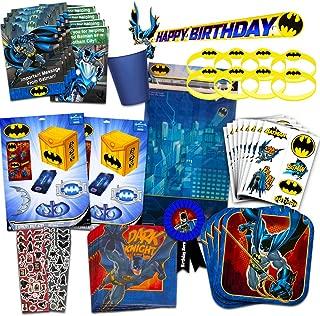 DC Comics Batman Party Supplies Ultimate Set -- Batman Party Favors, Birthday Party Decorations, Plates, Cups, Napkins, Invitations and More