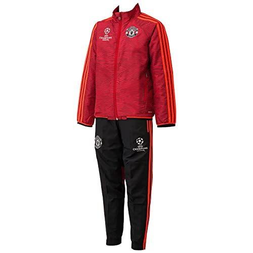 487c18f6d2546a adidas Boys  Manchester United UCL Presentation Training Suit  Multi-Coloured Scarle Solred