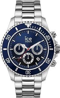 Ice-Watch - Ice Steel Marine Silver Chrono - Montre Bleue pour Homme avec Bracelet en Metal - Chrono - 017672 (Large)