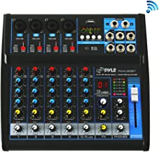 Pyle Professional Audio Mixer Sound Board Console – Desk System Interface with 6..