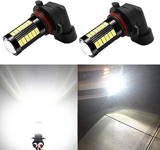 Alla Lighting 9145 H10 LED Fog Light Bulbs 2800 Lumens Xtremely Super Bright 9140 9045 9155 9040 5730 33-SMD 12V PY20D Fog Lights Replacement for Cars,  Trucks,  6000K Xenon White