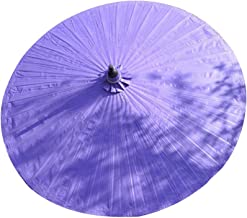 Patio Paraplu, Bamboe Tuinparasol 2m Outdoor Paraplu's Parasols Anti-ultraviolet Regendicht Vintage Decoratie 36 Bamboe Ri...