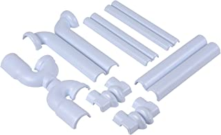Dearborn Brass ADA101 Safety Series - ADA Compliant Full Cover Kit, Straight Grid Drain, White