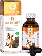 NaturPet D Wormer | 100% Natural, Safe, Effective Dewormer for Dogs and Cats | 3.3 oz..