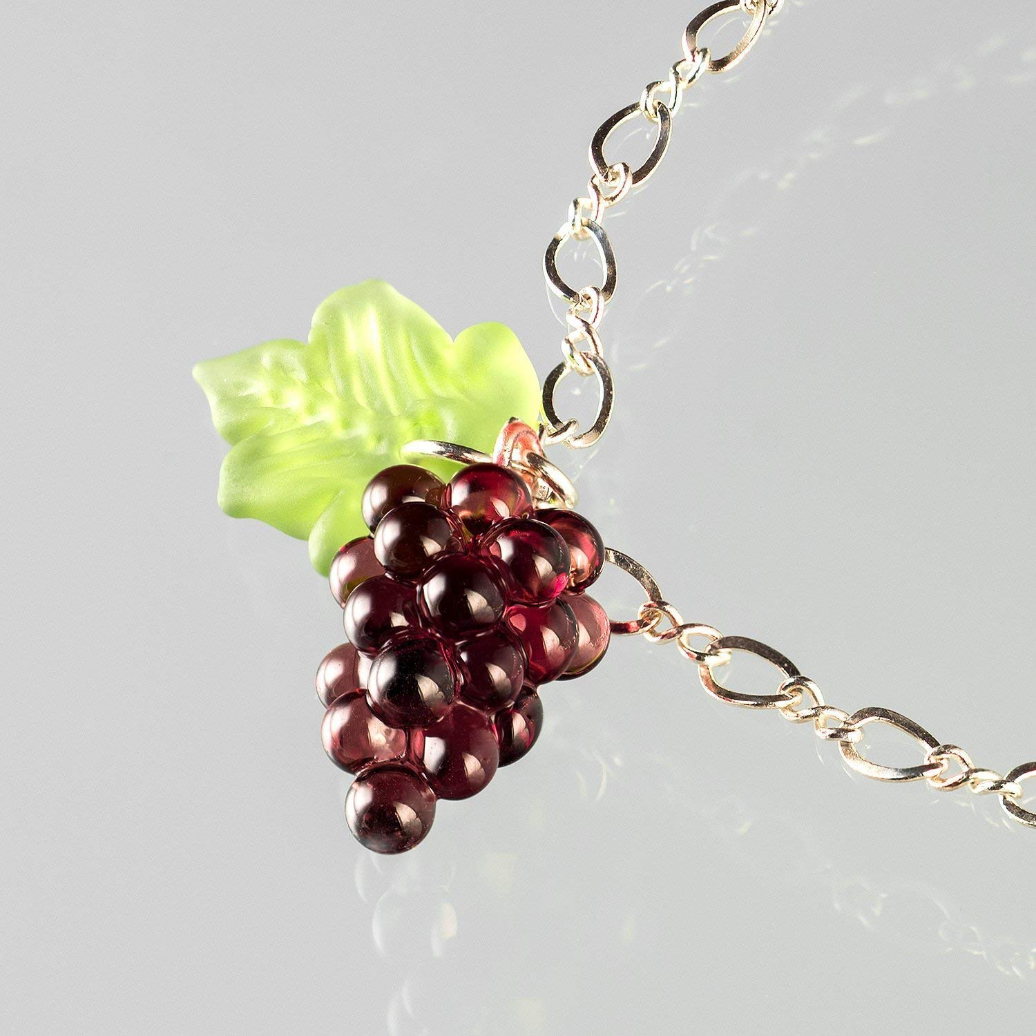 Glass Grape Superlatite Bunch Bracelet Purple Ad with Super special price on Leaves