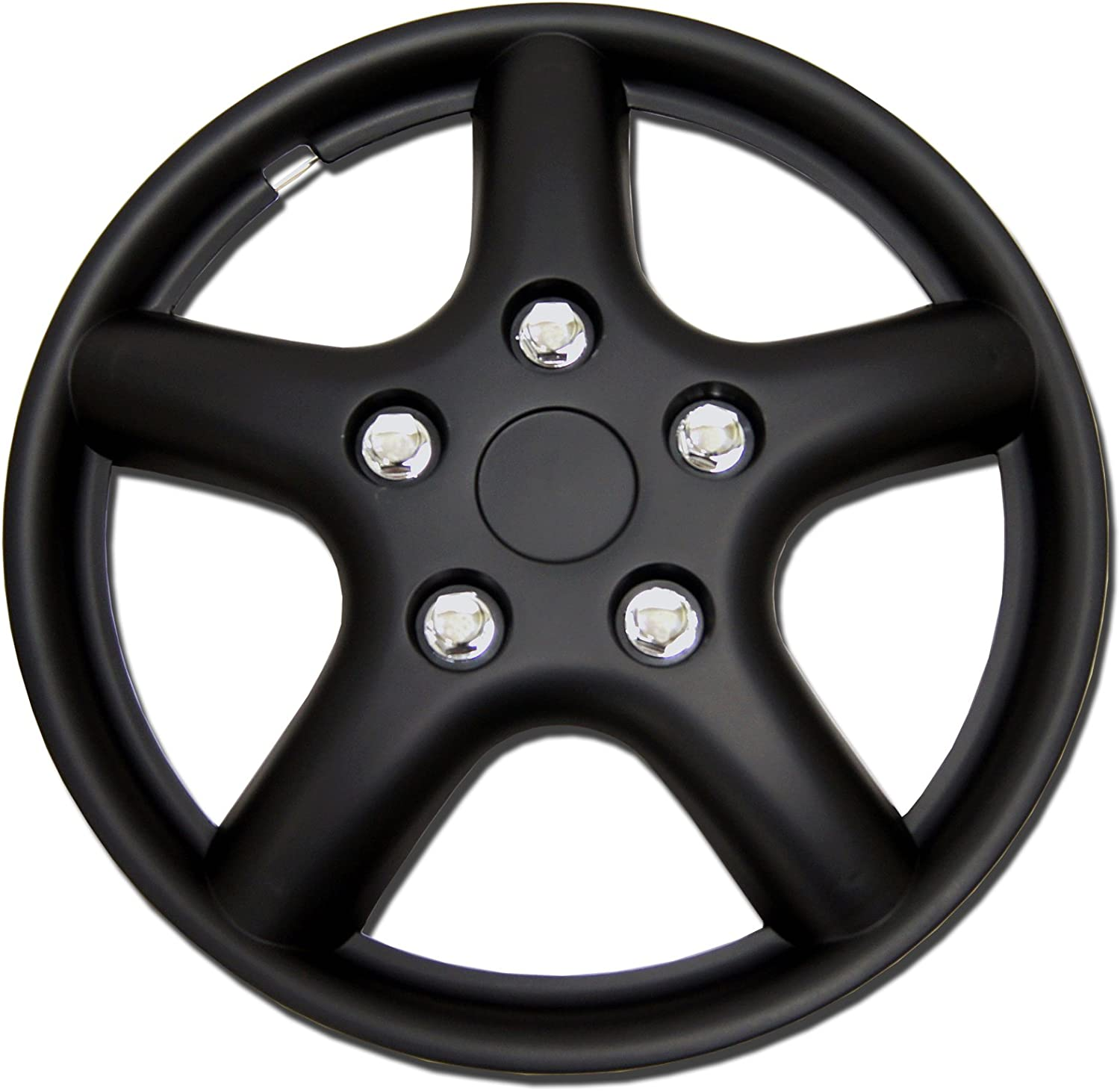 TuningPros WSC-028BB15 Credence Hubcaps Wheel Baltimore Mall 15-Inches Matte Cover Skin