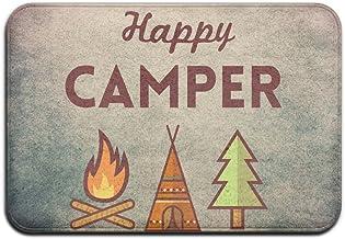 Soft Non-slip Happy Camper 2017 Bath Mat Coral Rug Door Mat Entrance Rug Floor Mats For Front Outside Doors Entry Carpet 4...