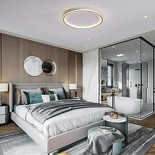 Ceiling Light, Golden Flush Mount Lamp, 3 Color in One LED ceiling lamp, 36W Close to Ceiling Light