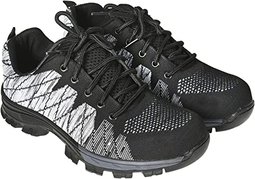 lowest findmall Steel Toe Shoes Breathable Lightweight Sneakers wholesale Anti Slip high quality Safety Work Shoes for Men outlet sale