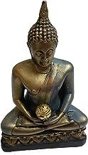 PARIJAT HANDICRAFT Polyresin Buddhist Healing Medicine Religious Figurine Themed Sitting Buddha Sculpture Thai shakyamuni ...