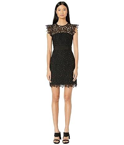 Milly Leila Dress (Black/Black) Women