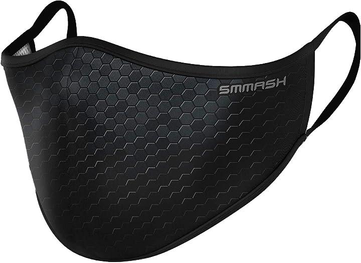 Mascherina protettiva in stoffa  - smmash premium designe - covid mask -  prodotto nell`unione europea B088MGKPGB