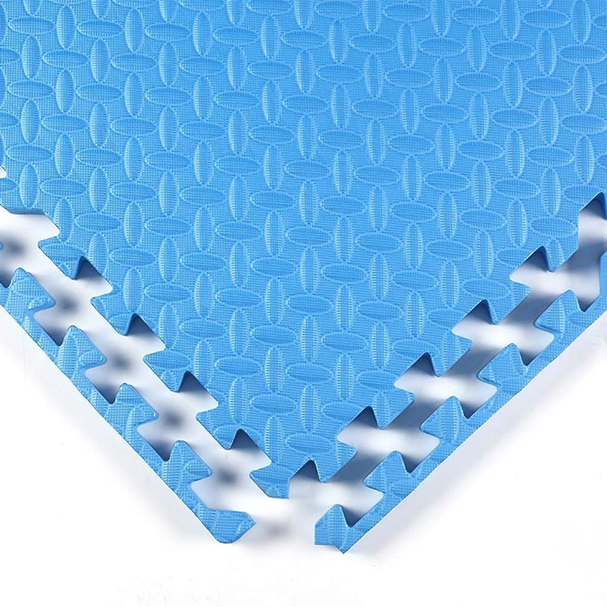 アンケート誤赤WUZMING ジョイントマット連動タイル大 ベビークロールマット柔らかい滑り止め屋内床保護、10色、2サイズ (Color : Blue, Size : 60x60x1.0CM-4pcs)
