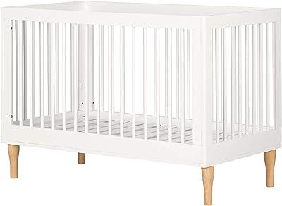 Balka 3 in 1 Convertible Crib-Pure White-South Shore