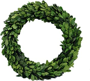 "Preserved Garden Boxwood Round Wreath 10"" By COCOMIA"