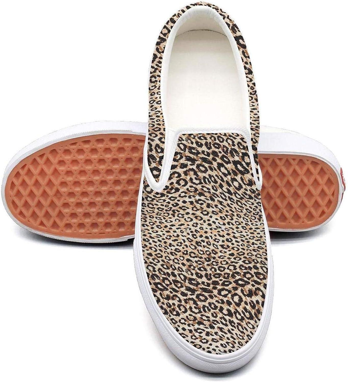 SKULLP Leopard print zebra texture Canvas Sneakers for Women slip on Skid-Proof Running shoes