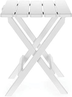 (بيضاء، كبيرة) - طاولة بجوانب قابلة للطي قابلة للطي للخارج، مثالية للشاطئ، والتخييم، والنزهات، والطهو وأكثر من ذلك، مقاومة...