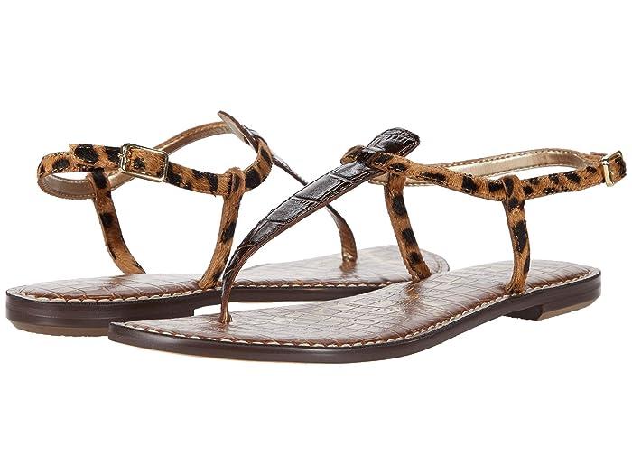 Sam Edelman  Gigi (Dark Brown/Brown Multi Splendor Croco Leather/Leone Leopard Brah) Womens Sandals