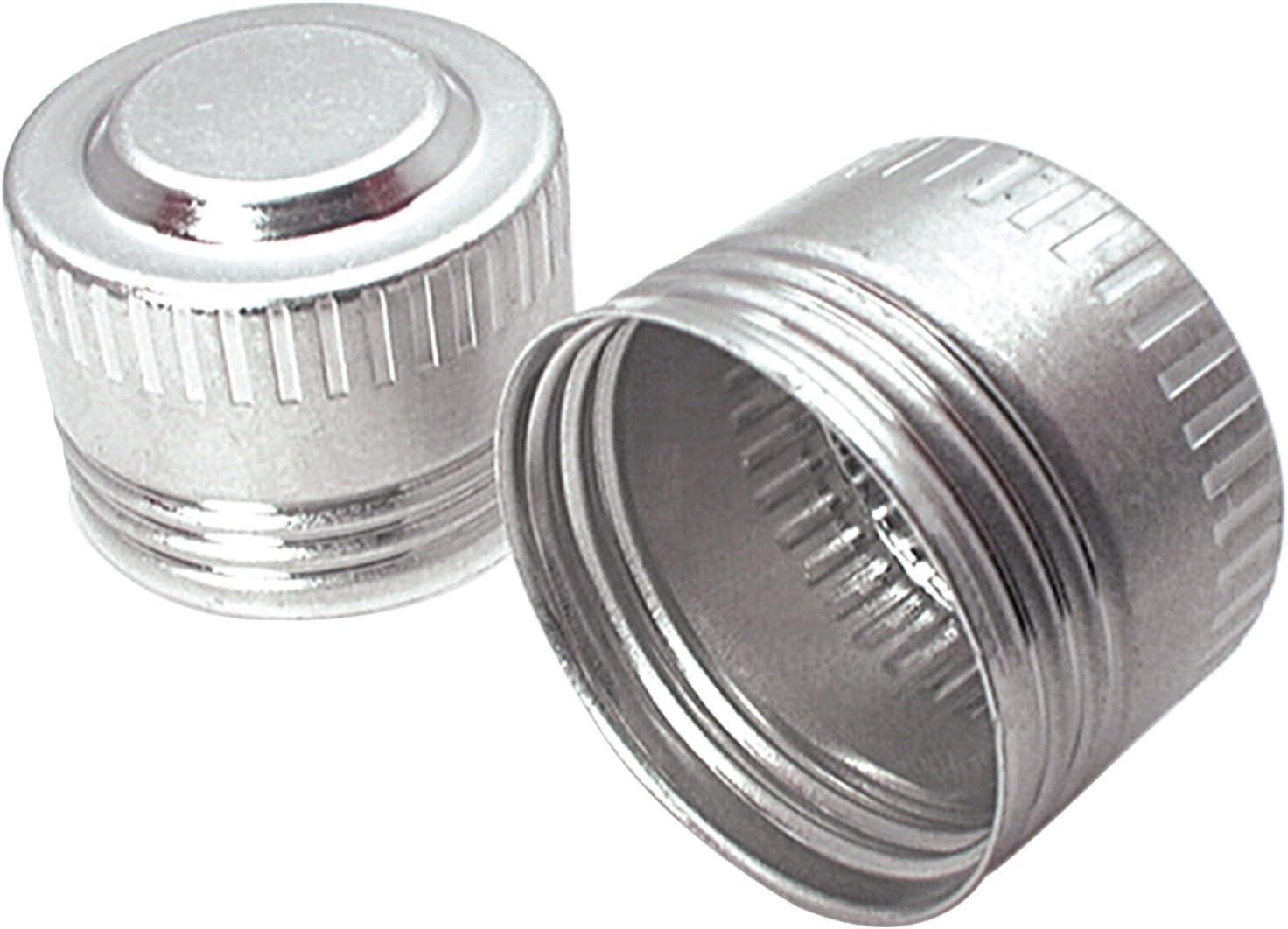Set of 50 ALL50827-50 16 AN Allstar AN Dust Cap Aluminum Natural