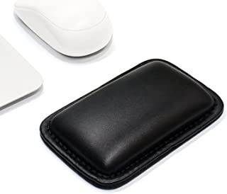 ProElife Office/Home PU Leather Mouse Wrist Rest Support Pad Mat Interior Soft Memory Foam for Magic Mouse Surface Mouse and Most of Wireless Wired Bluetooth Mouse Durable/Non-Slip (Black)