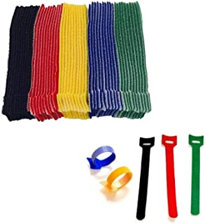 50pcs-6 Inch Length Reusable Hook and Loop Cable Ties ,Strong &Microfiber Fastening Cloth, Adjustable Fastener Cable Strap...