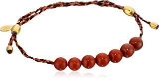 Alex and Ani Womens Precious Threads Red Jasper Gemstone Harvest Moon Braid