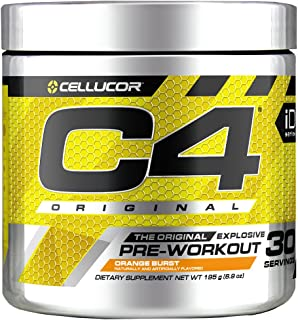 Cellucor C4 Original Pre Workout Powder Orange Burst | Sugar Free Preworkout Energy Supplement for Men & Women | 150mg Caf...
