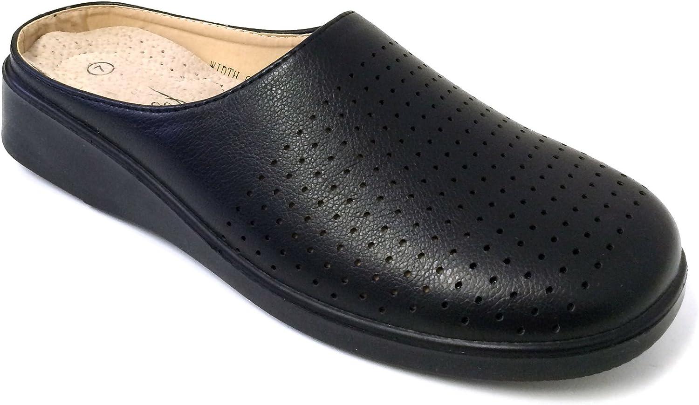 J-WD09 Women's Clogs Sandal Slippers Hotel Restaurant Hospital Slip Oil Resistant Work shoes, Black, White
