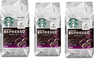 Starbucks, Dark Roast, Espresso Roast Ground Coffee, 12oz Bag (Pack of 3)