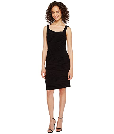 78069477 Adrianna Papell Variegated Striped Banded Jersey Sheath Dress at 6pm