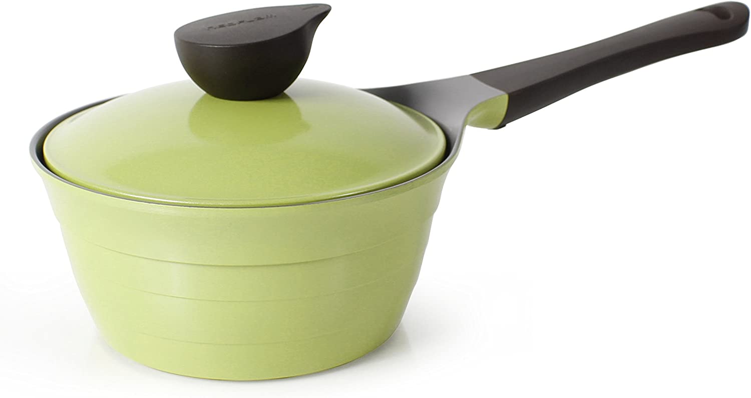 Neoflam Eela 1.5qt Covered Cast Aluminum Saucepan with Bakelite Handle and Ecolon Non-Stick Coating