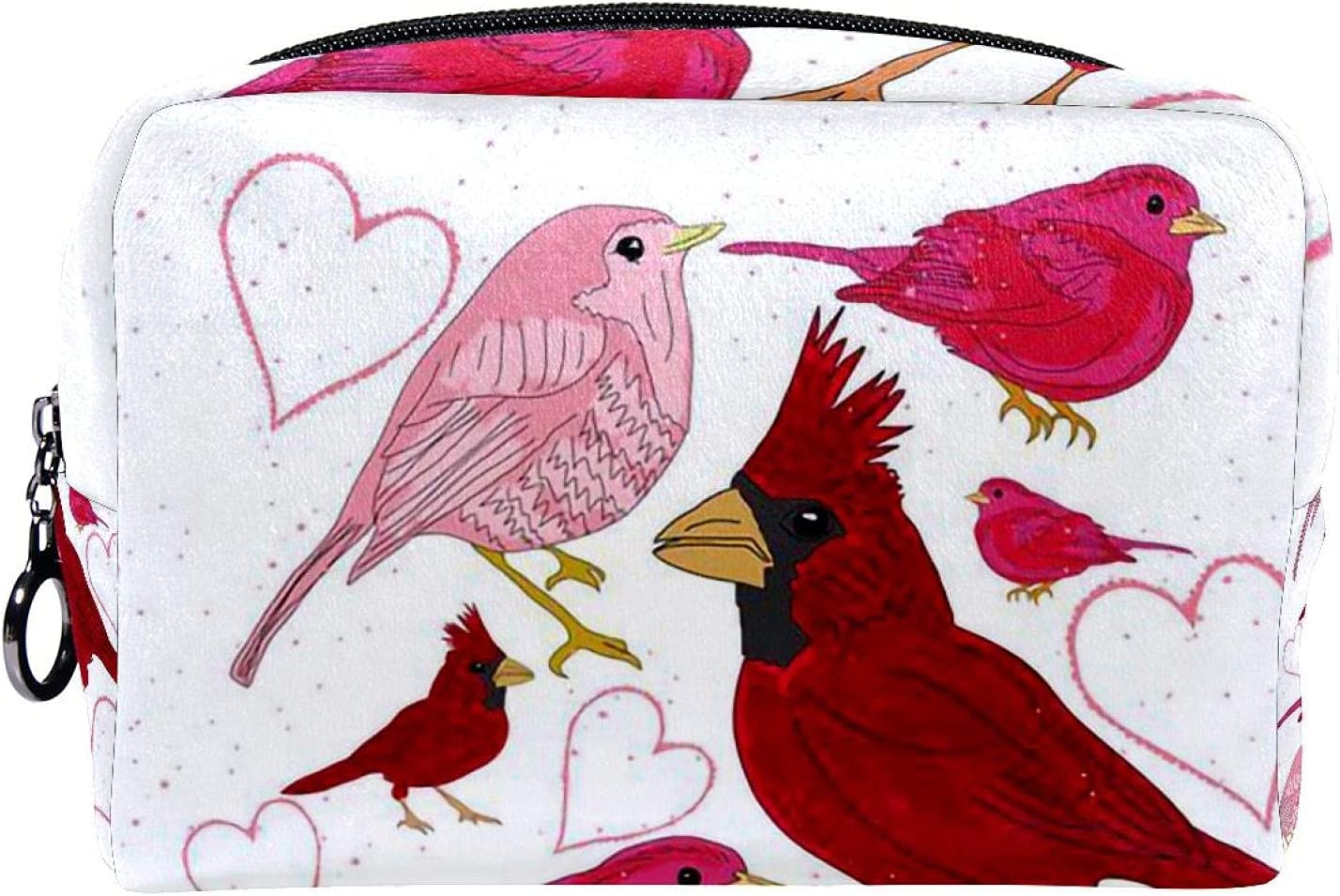 Cosmetic Bag Zipper Closure Makeup bird Department store
