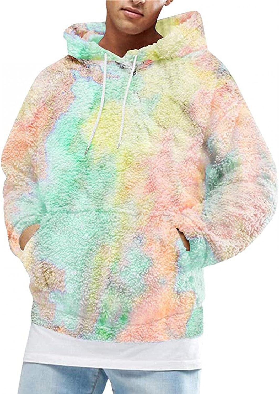 FUNEY Mens Oakland Direct stock discount Mall Hoodie Sweatshirts Long Sleeve Dye Tie Po Sport Front