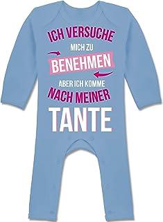Shirtracer Sprüche Baby - Ich versuche Mich zu benehmen Aber ich komme nach meiner Tante - Baby-Body Langarm für Jungen und Mädchen