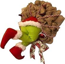 Small Guirlanda de Natal How The Grinch Stole de aniagem de Natal, decorações super fofas e adoráveis, ótimos presentes pa...