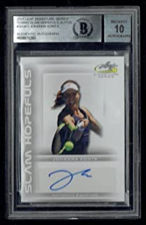 Johanna Konta signed autograph 2017 Leaf Slam Hopefuls Tennis BAS Slab Auto 10