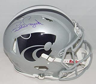 Bill Snyder Autographed Kansas State Wildcats F/s Authentic Speed Helmet - JSA Certified - Autographed College Helmets