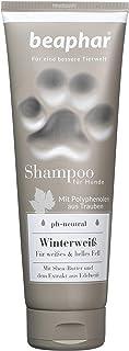 Premium Shampoo Winterweiß für Hunde | Hundeshampoo für weißes & helles Fell | Glänzendes Fell | pH neutral | Shampoo für Malteser, Havaneser | 250 ml