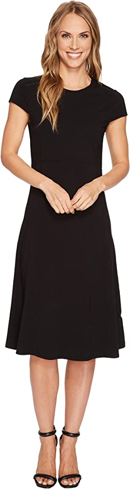 Mod-o-doc - Cotton Modal Spandex Jersey Cap Sleeve Fit and Flare Dress
