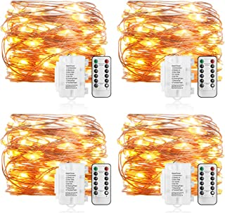 Koopower 16ft 50 LEDs Fairy Lights 8 Mode Remote and Timer String Lights Waterproof Battery Operated Copper Wire Lights fo...