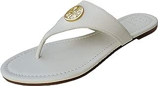 Women's Leather Benton Flat Thong Sandals Perfect Black 006