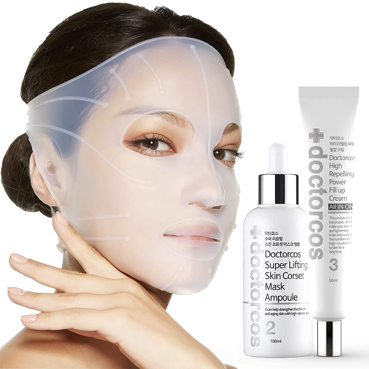 Directly managed store DOCTORCOS Selling rankings Super Lifting Skin Mask Silicone Amp Set +