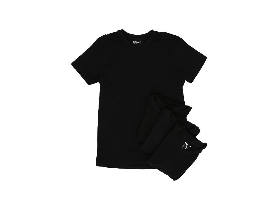 PACT Organic Cotton Undershirt 4-Pack (Black) Men