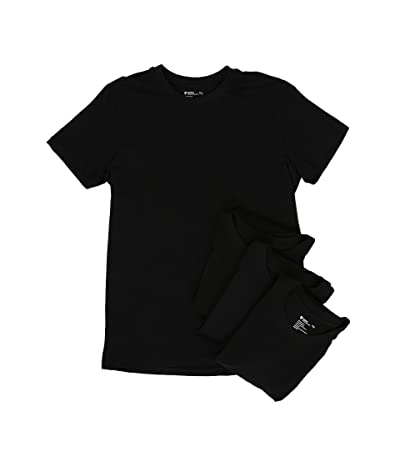 PACT Organic Cotton Undershirt 4-Pack (Black) Men