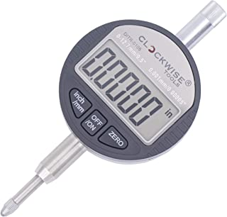 Clockwise Tools DITR-0055 Electronic Digital Dial Indicator Gage Gauge Inch/Metric Conversion 0-0.5 Inch/12.7 mm 0.00005 Inch/0.001mm Resolution with Back Lug Auto Off Featured Measuring Tool