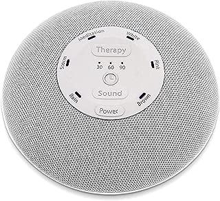 HoMedics Deep Sleep Mini Portable Sleep Sound Machine 3 Programs, 3 White Noises, 2 Sounds, Guided Meditation, Auto-Off Timer, Rechargeable Battery Gray
