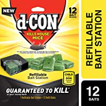 D-Con Corner Fit Mouse Poison Bait Station with 1 Trap and 12 Bait Refills