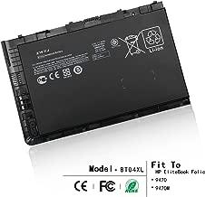 ZWXJ Laptop Battery BT04XL (14.8V 52Wh) for HP EliteBook Folio 9470 9470M Series Laptop HSTNN-IB3Z HSTNN-DB3Z HSTNN-I10C BT04 BA06 687517-1C1 687945-001